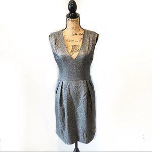 Adam Lippes Dress Gray V Neck Size 4